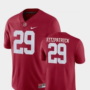 Men's Game College Football #29 Crimson Minkah Fitzpatrick Alabama Jersey 655868-925