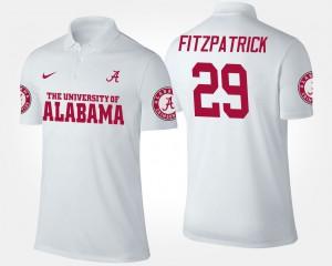 #29 Minkah Fitzpatrick Alabama Polo For Men White 581030-247
