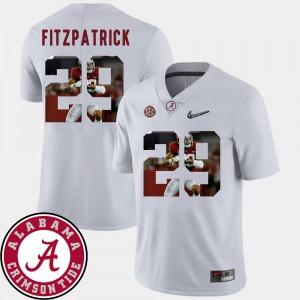 Pictorial Fashion White Football For Men's #29 Minkah Fitzpatrick Alabama Jersey 942091-832