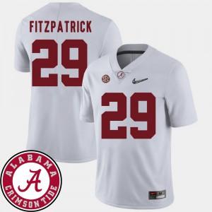 #29 White College Football Mens Minkah Fitzpatrick Alabama Jersey 2018 SEC Patch 426409-914