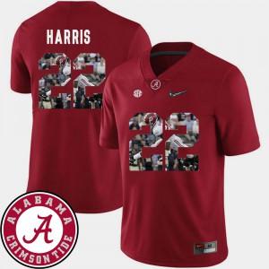 Najee Harris Alabama Jersey Men Pictorial Fashion Crimson Football #22 324591-273