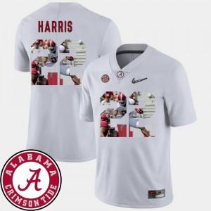 Football Pictorial Fashion #22 Mens Najee Harris Alabama Jersey White 657264-417