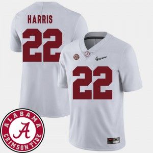 Najee Harris Alabama Jersey 2018 SEC Patch #22 White College Football For Men 602588-332
