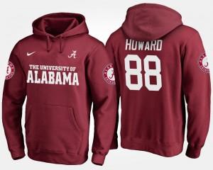 For Men #88 O.J. Howard Alabama Hoodie Crimson 534708-388