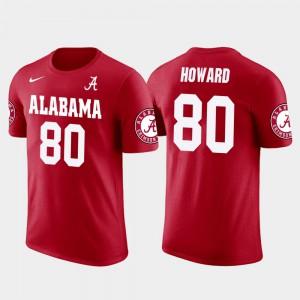 Men's Red #80 Future Stars Tampa Bay Buccaneers Football O.J. Howard Alabama T-Shirt 904193-805