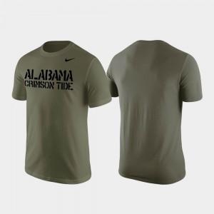 Olive Stencil Wordmark For Men Alabama T-Shirt 184892-733