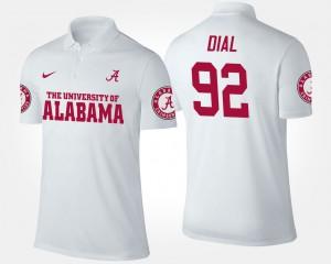 #92 White For Men's Quinton Dial Alabama Polo 709768-774