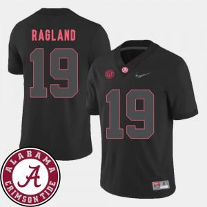 Reggie Ragland Alabama Jersey College Football Mens #19 2018 SEC Patch Black 373846-269