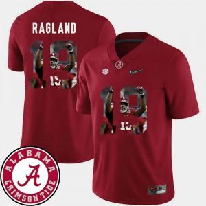 Pictorial Fashion #19 Crimson Football For Men Reggie Ragland Alabama Jersey 828549-414
