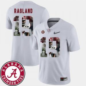 Pictorial Fashion Football Reggie Ragland Alabama Jersey Mens #19 White 446340-827