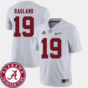 2018 SEC Patch Mens College Football #19 White Reggie Ragland Alabama Jersey 355176-604