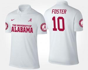White Reuben Foster Alabama Polo #10 For Men 383965-836