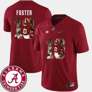Pictorial Fashion Crimson For Men #10 Reuben Foster Alabama Jersey Football 937472-657