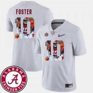 Football Reuben Foster Alabama Jersey For Men #10 Pictorial Fashion White 174738-767