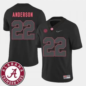 #22 Mens Black 2018 SEC Patch College Football Ryan Anderson Alabama Jersey 122484-132