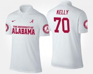 Ryan Kelly Alabama Polo Men's White #70 740815-874