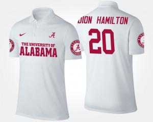 For Men Shaun Dion Hamilton Alabama Polo #20 White 433837-785