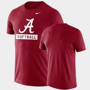 Drop Legend Alabama T-Shirt Performance Softball Men Crimson 974682-530