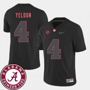 #4 2018 SEC Patch T.J. Yeldon Alabama Jersey Men's College Football Black 966854-751
