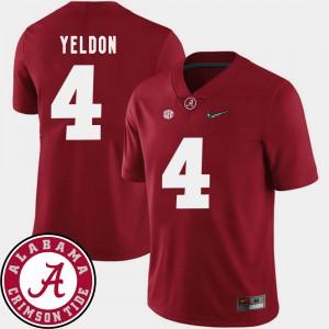 College Football Men's #4 2018 SEC Patch Crimson T.J. Yeldon Alabama Jersey 733566-818