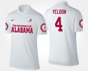 #4 White Men's T.J. Yeldon Alabama Polo 684360-597