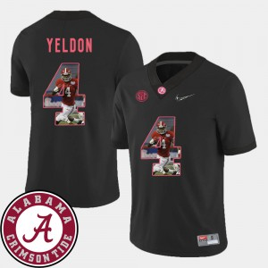 Football Black For Men's #4 T.J. Yeldon Alabama Jersey Pictorial Fashion 920623-817