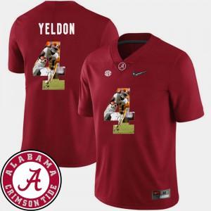 Pictorial Fashion T.J. Yeldon Alabama Jersey Football Crimson #4 Men's 852975-379