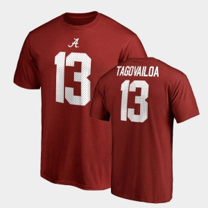Name & Number Men College Legends Tua Tagovailoa Alabama T-Shirt #13 Crimson 653214-306