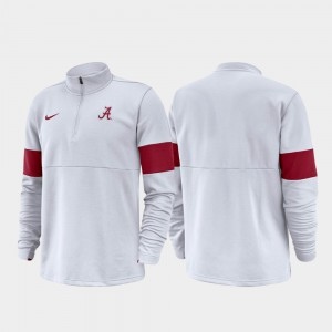 Half-Zip Performance White 2019 Coaches Sideline Men's Alabama Jacket 313433-833