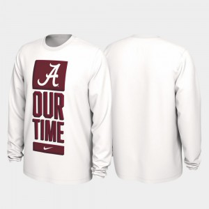 Alabama T-Shirt White Our Time Bench Legend Mens 2020 March Madness 787070-318