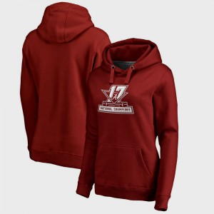 Alabama Hoodie Crimson Bowl Game Women's College Football Playoff 2017 National Champions Official 145314-147