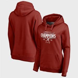 Crimson Alabama Hoodie College Football Playoff 2018 Sugar Bowl Champions Goal Bowl Game For Women's 989853-621