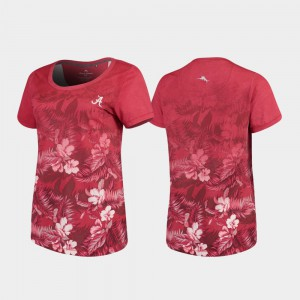 Alabama T-Shirt For Women's Crimson Tommy Bahama Floral Victory 747214-170