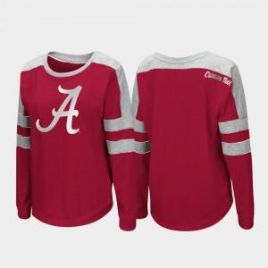 Alabama T-Shirt Crimson Trey Dolman For Women Long Sleeve 952329-117