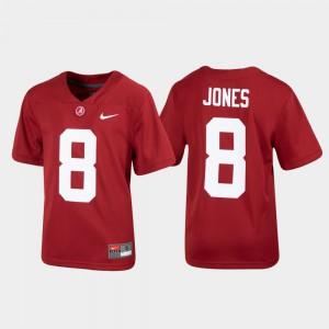 Crimson Youth Julio Jones Alabama Jersey Replica #8 Alumni Football 796039-921